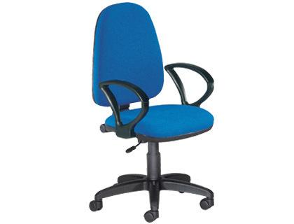 Silla de oficina con respaldo medio en color azul ¡Oferta!