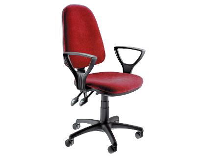 Silla de oficina con respaldo alto roja compra al mejor for Sillas de oficina precios